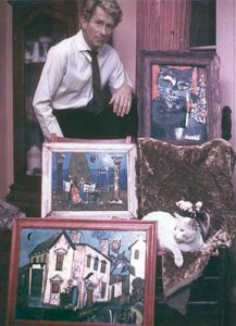 Faulkner With Paintings